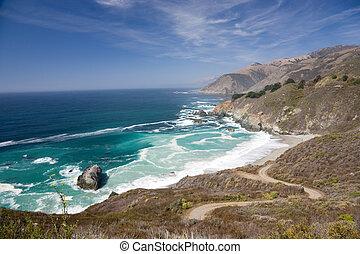 Rocky Coast, Big Sur in California, USA