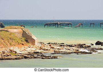rocky coast of Black Sea in Bulgaria