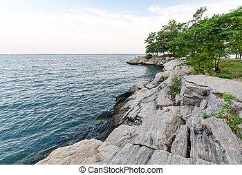 Rocky coast of Connecticut