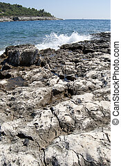 rocky coast of Croatia