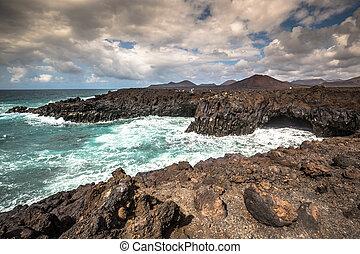 Rocky coast of Los Hervideros, Lanzarote
