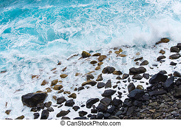 Rocky coast of Madeira island, Portugal