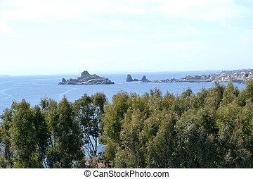 Rocky coast of Sicily