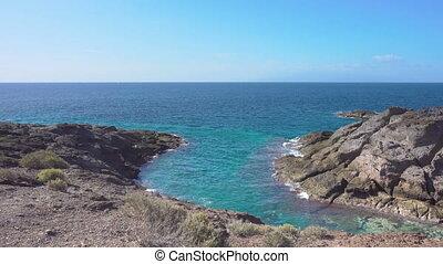 Rocky coast of Tenerife - Surf and rocky coast of Tenerife,...