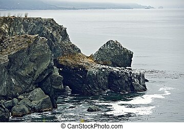 Rocky Coastal Cliffs