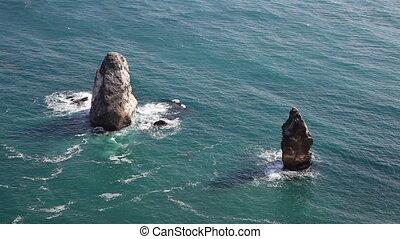 Rocky Coastal Cliffs