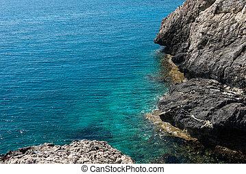 Rocky coastline in Cyprus