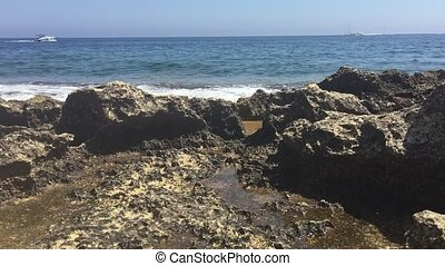 Rocky coastline in the Mediterranea