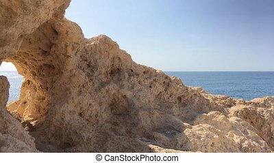 Rocky coastline near Carvoeiro - Summer Atlantic ocean rocky...