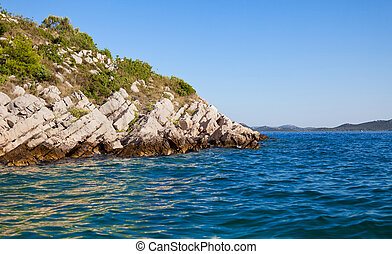 Rocky island in the Adriatic