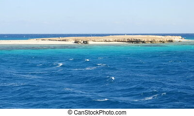 Rocky Island in the Red Sea