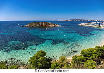 Rocky island off the coast of Mallorca