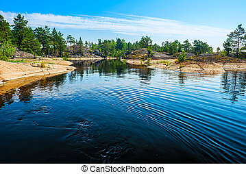 rocky islands of Ladoga lake