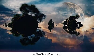 Rocky islands - Sunset or sunrise with rocky islands