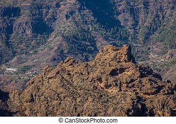 Rocky landscape, Gran Canaria