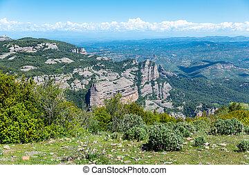Rocky landscape of Natural Park de Sant Llorenc del Munt i l Obac