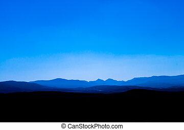 Rocky landscape panorama