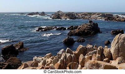 Rocky Monterey Peninsula Coast Loop - Looping video footage...
