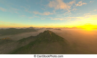 Rocky mountain - 3D CG rendering of rocky mountain.