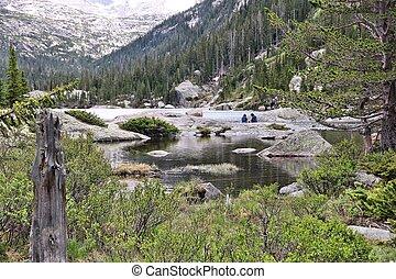 Rocky Mountain National Park in Colorado, USA. Mills Lake.