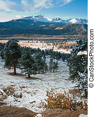 Rocky Mountain National Park - Sunrise over Rocky Mountain...