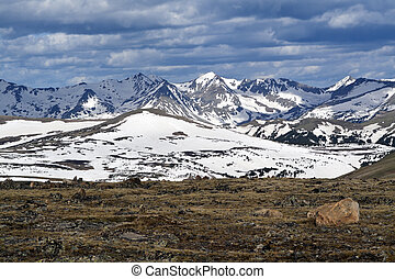 Rocky Mountain National Park vista during the spring