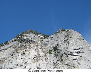 rocky mountain top view