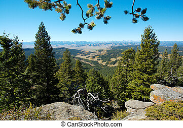Rocky Mountains, Alberta, Canada - Panorama of the Rocky...