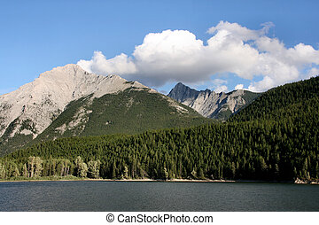 Rocky Mountains and lake - Canadian Rocky Mountains...