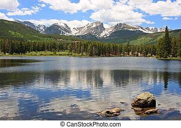 Rocky Mountains and Sprague Lake - Rocky Mountains and...