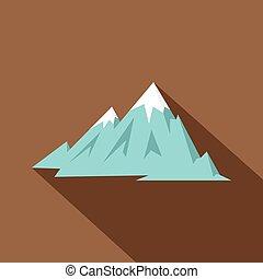 Rocky Mountains icon, flat style - Rocky Mountains icon....