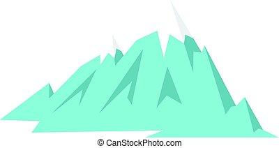 Rocky Mountains icon isolated - Rocky Mountains icon flat...