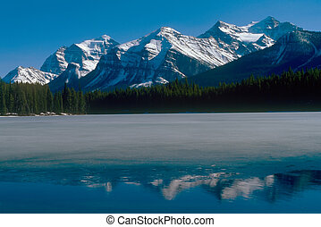 Rocky mountains in Bunff national park Canada
