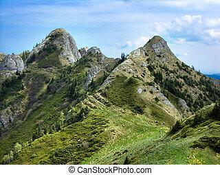 Rocky mountains of Ciucas, Carpathian ridge in Romania - ...