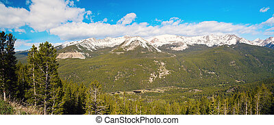 Rocky Mountains National Park panoramic view