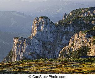 rocky mountains - Ceahlau National Park, Romania, mountain...