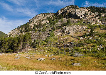 Rocky Mountains - The Rocky Mountains south of Red Lodge,...