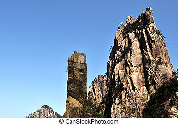 Rocky mountains - Landscape of the famous Huangshan...