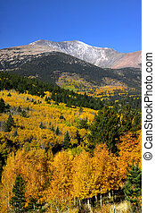 Rocky mountains - Scenic autumn landscape in Rocky mountains...