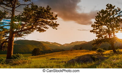 Rocky Mountains Sunset time-lapse 4