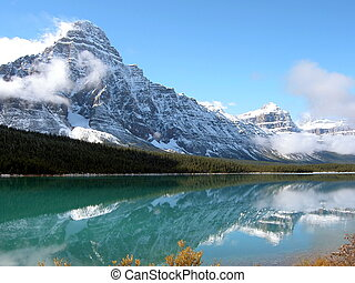 Rocky Mtn Reflection - Snow Capped Rocky Mountains...
