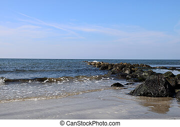 Rocky Outcrop on a Coastal Beach