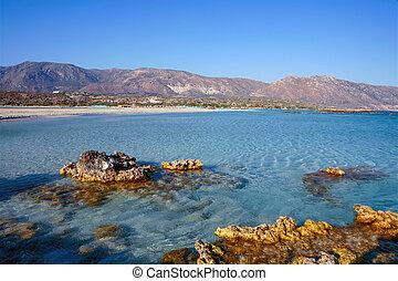 Rocky outcrops at Elafonisos beach - Small rocks outcropping...