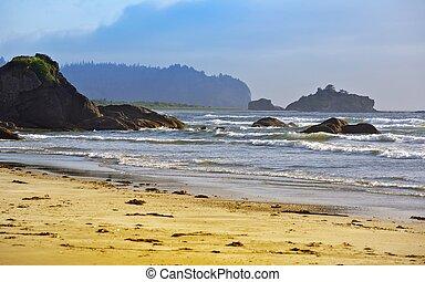 Rocky Pacific Coast - Washington State Pacific Coast. Nature...