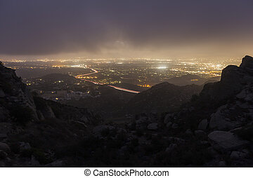 Rocky Peak Fog above Los Angeles California