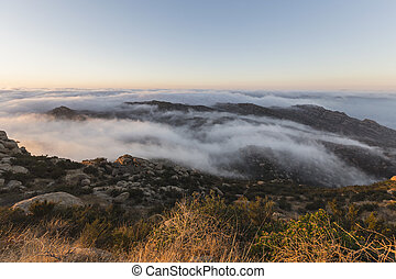 Rocky Peak Morning Fog Los Angeles County California
