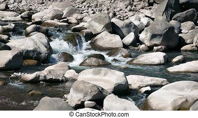 Rocky River On Sunny Day