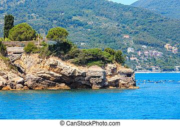 Rocky sea coast, Portovenere, Italy. - Beautiful rocky sea...