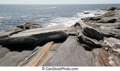 Rocky Sea Shore Maine USA Eight