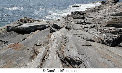 Rocky Sea Shore Maine USA Nine